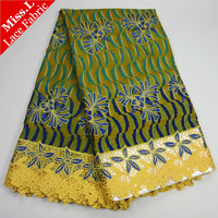 Most Popular African Wax Lace Fabrics 100 Cotton Guipure Lace African Ankara Fabric Embroidered With Stones