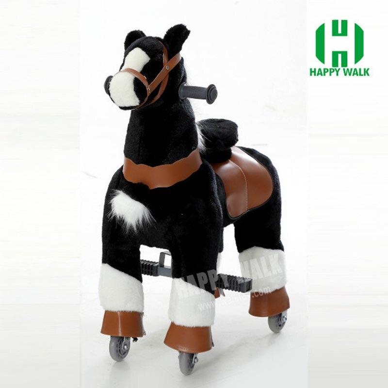Offre spéciale vie L taille cheval marche cheval jouet mécanique cheval jouet haute qualité petit poney pour garçon fille enfants nouvel an cadeau