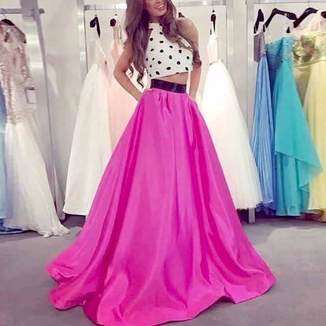 Vestidos De Baile Custom Made O Neck Ombre Dress Long Elegant 2