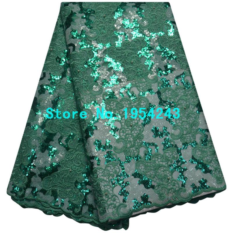 High Quality African Organza Sequin Lace Fabric Hot Sale Nigerian Wedding Dress Double Organza French Net