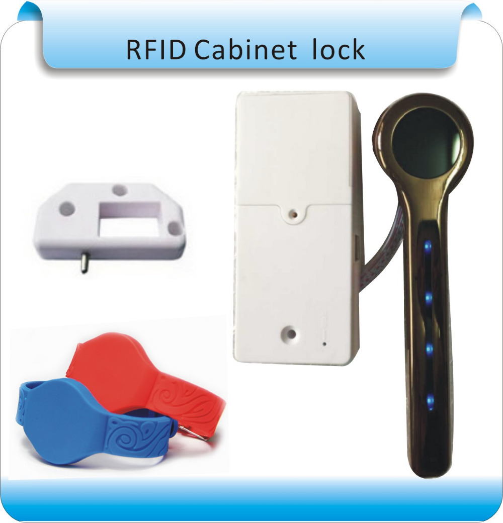 Free shipping Golden Color Rfid Digital Lock For Sauna Spa Swimming Pool Gym Electronic Cabinet Lock Lockers +one wristband digital electric best rfid hotel electronic door lock for flat apartment