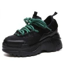 Moxxy Fashion White Black Sneakers Women Dad Shoes Woman Casual Platform Ladies Baskets Femme 2018 Spring Autumn