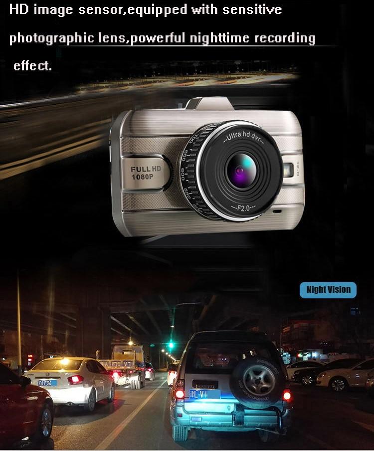 3″ Dual Lens Full HD 1080P Video Recorder Car DVR Camera Dash Cam Digital Video Recorder with Two Cameras Night Vision DashCam