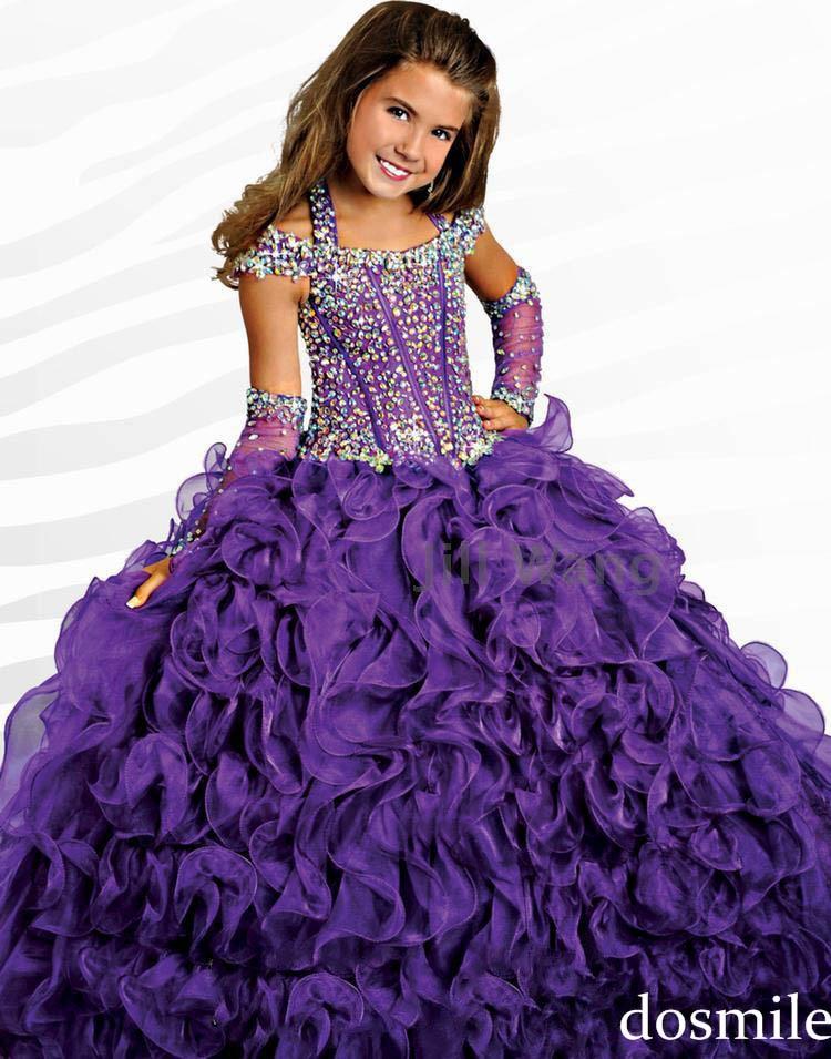 Cheap girl pageant dress