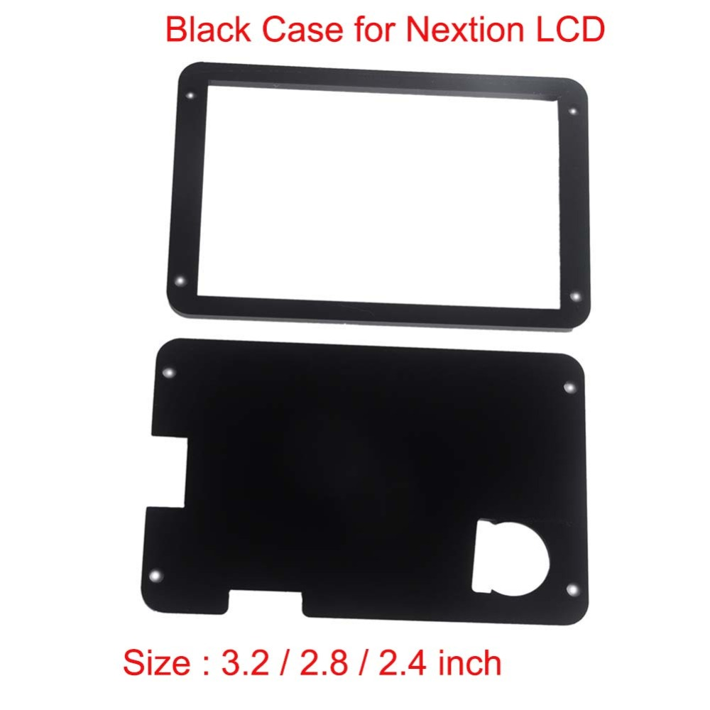 Black Acrylic Nextion Case For Nextion Enhanced 3.2 2.8 2.4 Inch HMI Touch Display LCD Module Screen FZ1717E-B