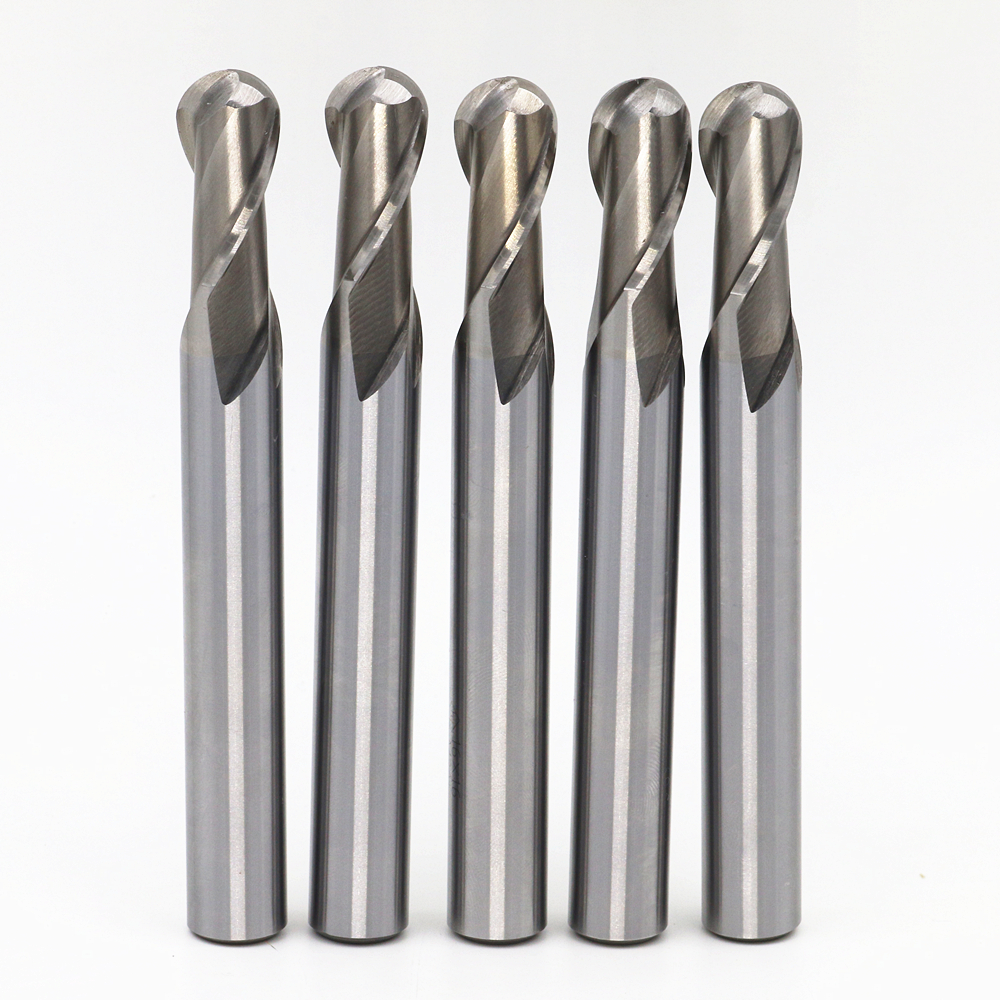 Free shipping. 5 / bag.Head: R8.Ball milling cutter, the material is M2AI, computer ball milling, Ball-cutter, R8*16*32*140mm
