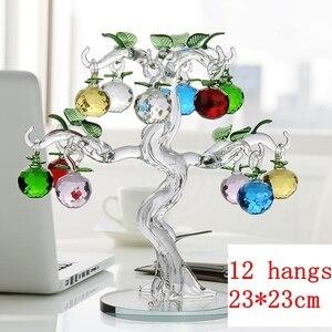 Image 2 - คริสตัลApple Treeเครื่องประดับFengshuiหัตถกรรมHome Decor Figurinesคริสต์มาสปีใหม่ของขวัญของที่ระลึกเครื่องประดับตกแต่ง