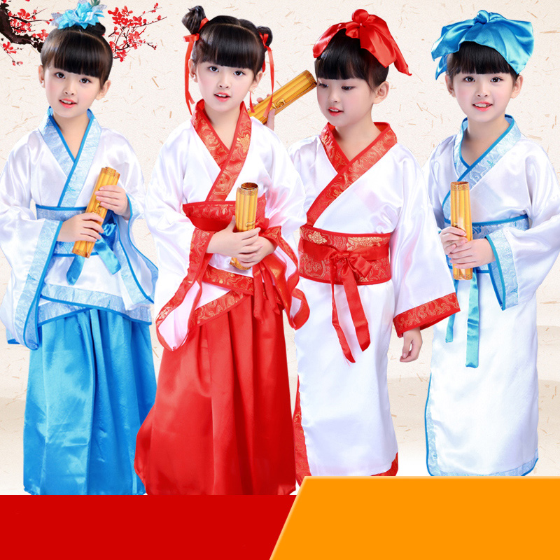 Chinese style Hanfu Children's Day performance costumes kindergarten costumes costumes for boys and girls show costumes