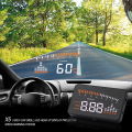 X5 Car Auto Hud Head Up Display OBDII Car Interface Speedometer Detector Over Speed Alert LED Windshield Projector Alarm System
