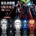 Star Wars Dos Desenhos Animados Banco Do Poder 8000 MAH Caixa de Escudo Capitão América Avengers Spiderman/Ironman Powerbank 8000 Mah Para Android/Iphone