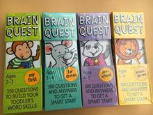 Brain Quest English version of the intellectual development card books questions and answers smart start Child kids