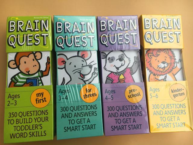 Cerveau Quest version anglaise de la carte de développement intellectuel livres questions et réponses carte smart start enfant enfants