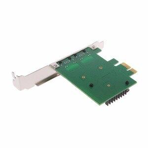 Image 3 - Dual Port PCI Express PCI E X1 Gigabit karta sieciowa Ethernet 10/100/1000 mb/s Adapter LAN wysokiej jakości