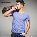 New Summer Fashion Mens Casual T-Shirts Solid 3 Color Short Sleeve Brand Clothing Man's Slim Fit Clothes Male Wear Tops Tee