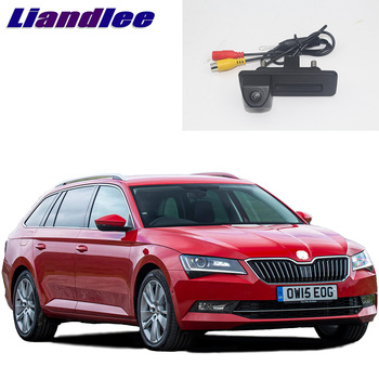 LiandLee Car Trunk Handle Rear View Reversing Parking Camera For Skoda Superb B6 2008~2015