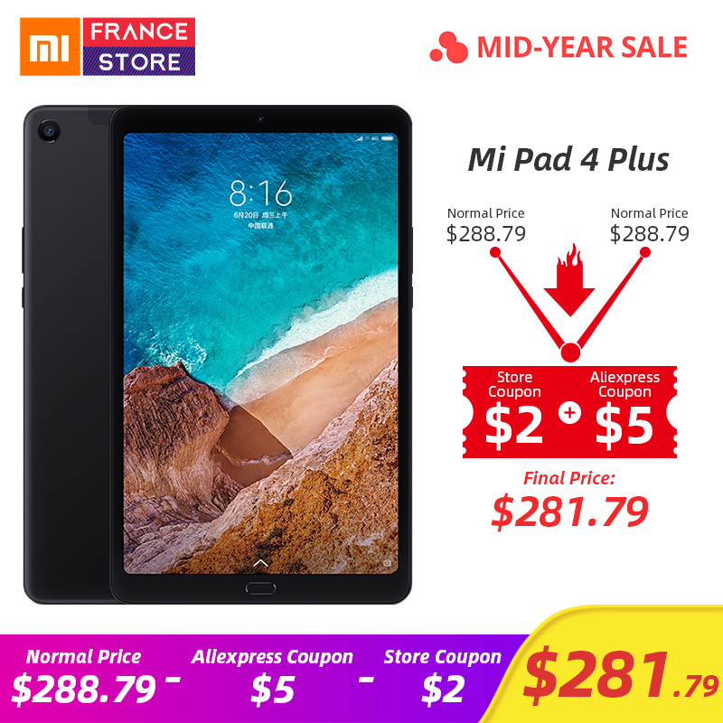 Original Xiaomi Mi Pad 4 Plus PC Tablet 10.1 Snapdragon 660 Octa Core Face ID 1920x1200 13.0MP+5.0MP 4G Tablets Android MiPad 4Original Xiaomi Mi Pad 4 Plus PC Tablet 10.1 Snapdragon 660 Octa Core Face ID 1920x1200 13.0MP+5.0MP 4G Tablets Android MiPad 4