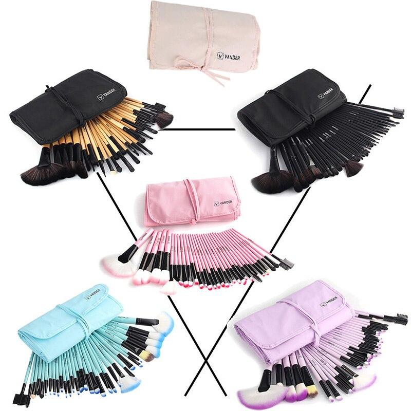 Vander 32 stücke Make-Up Pinsel Lidschatten Lippenstift Powder Foundation Pinsel Mit Kosmetik Tasche pincel Make-Up Pinsel Kits