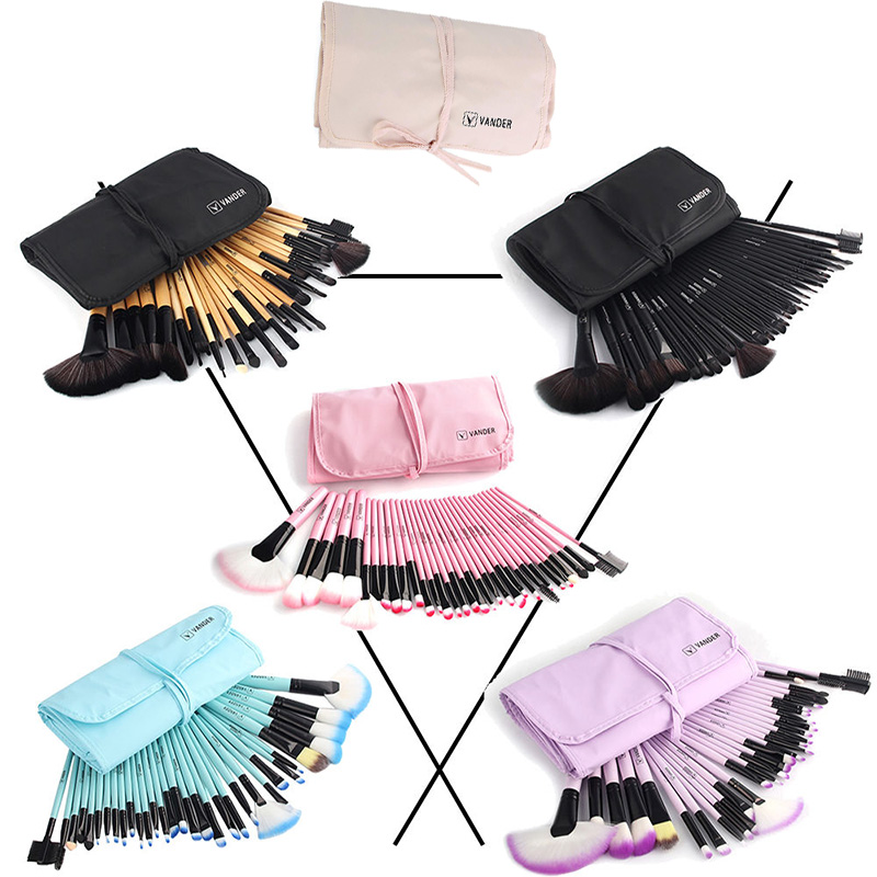 Vander 32Pcs Makeup Brushes Eye Shadows Lipstick Powder Foundation Brushes With Cosmetic Bag pincel Make Up Brushes Kits vander 32pcs set professional makeup brush foundation eye shadows lipsticks powder make up brushes tools w bag pincel maquiagem