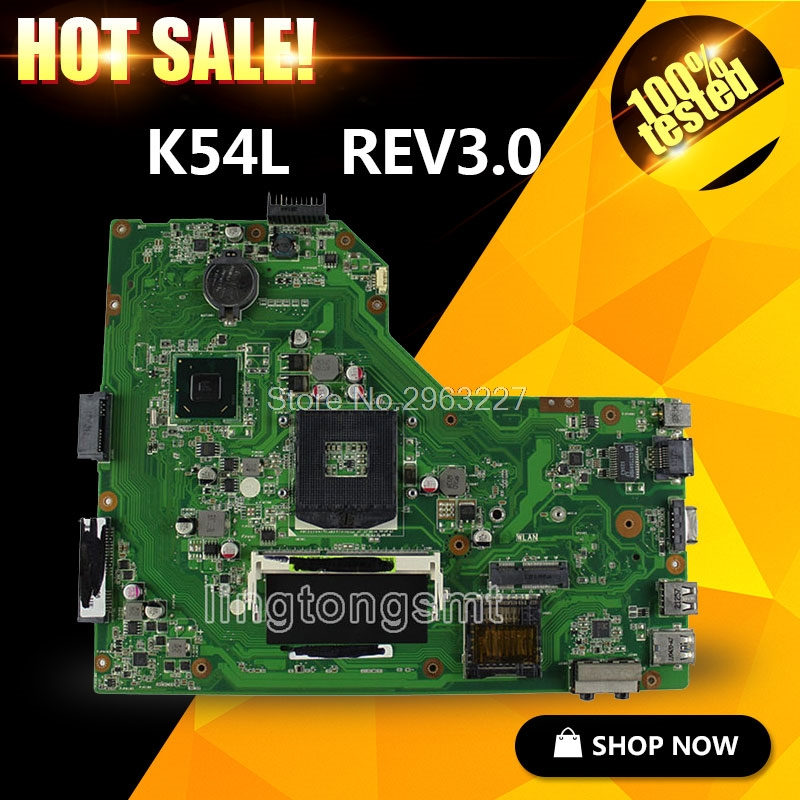 for ASUS X54H K54L REV 3.0 Notebook Motherboard PC Main board professional Wholesale Fast shipping