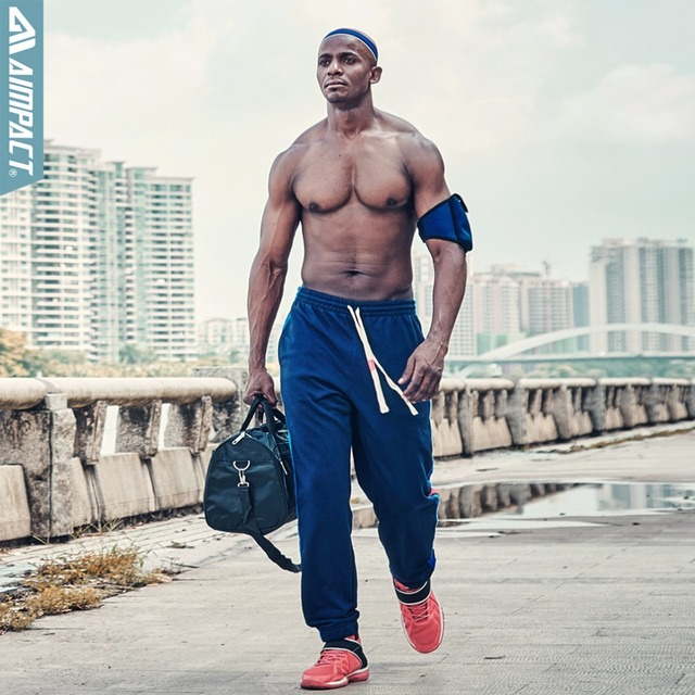 Aimpact Sporty Cotton Pants for Men Casual Sweatpants Male Track Pants Fitted Jogging Pant Fashion Jogger Trousers AM5026