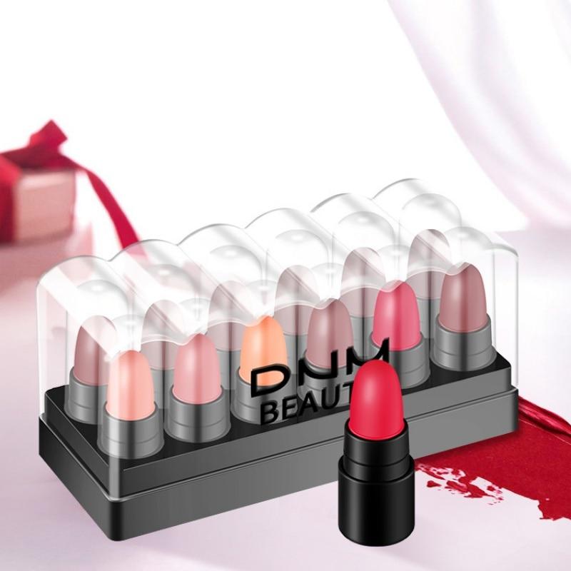 Mini Matte Lippenstift Set Frauen Maekup Langlebig Wasserdicht Feuchtigkeits Lip Stick Kosmetik 12 Farben