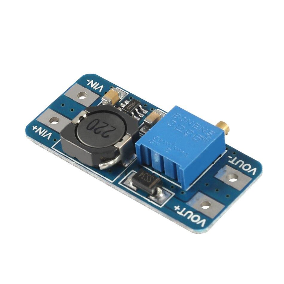 Icstation MT3608 DC Spannung Regler Step Up Boost Converter Netzteil Modul 2 V-24 V zu 5 V -28 V 2A