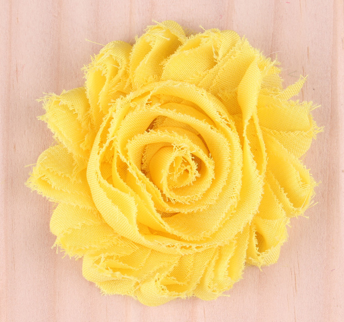10pcs lot 15colors Fashion Chic Shabby Chiffon Flowers For Baby Hair Accessories 3D Frayed Fabric Flowers For Girl Headbands