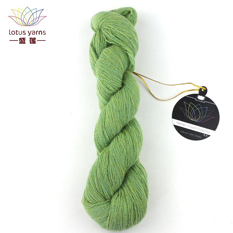 Lotus Yarns Tibetan Cloud Fingering Yarn Natural Tibetan Yak Hand Knitting Colored DIY Crochet