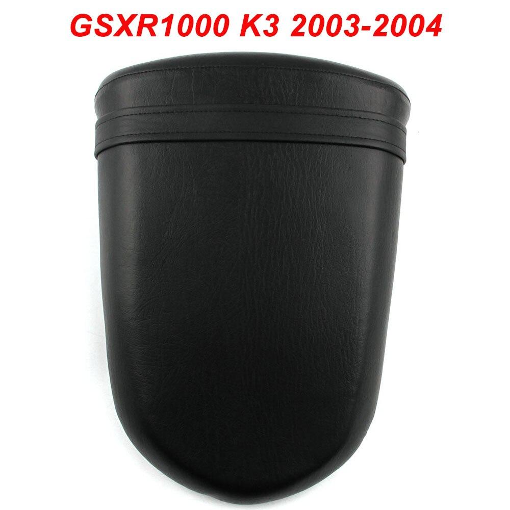 For 03 04 Suzuki GSXR1000 GSXR 1000 GSX R1000 K3 Motorcycle Rear Passenger Seat Cushion Pillion Leather Pad 2003 2004