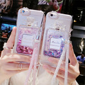 Perfume de luxo garrafa líquido dinâmico capa de silicone para xiaomi redmi 3 redmi 3 s redm 3x redmi note 4 com cadeia caso de telefone cobrir