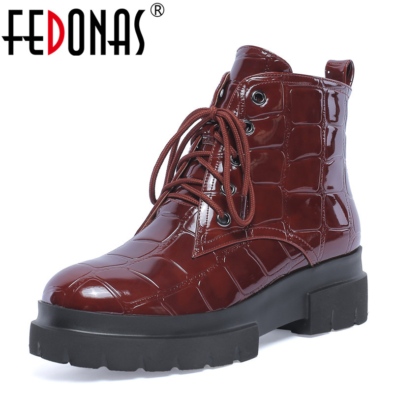 FEDONAS Fashion Women Ankle Boots Autumn Winter Warm High Heels Shoes Genuine Leather Cross-tied Round Toe Martin Shoes Woman fedonas 1fashion women ankle boots autumn winter warm high heels shoes woman round toe cross tied genuine leather martin boots