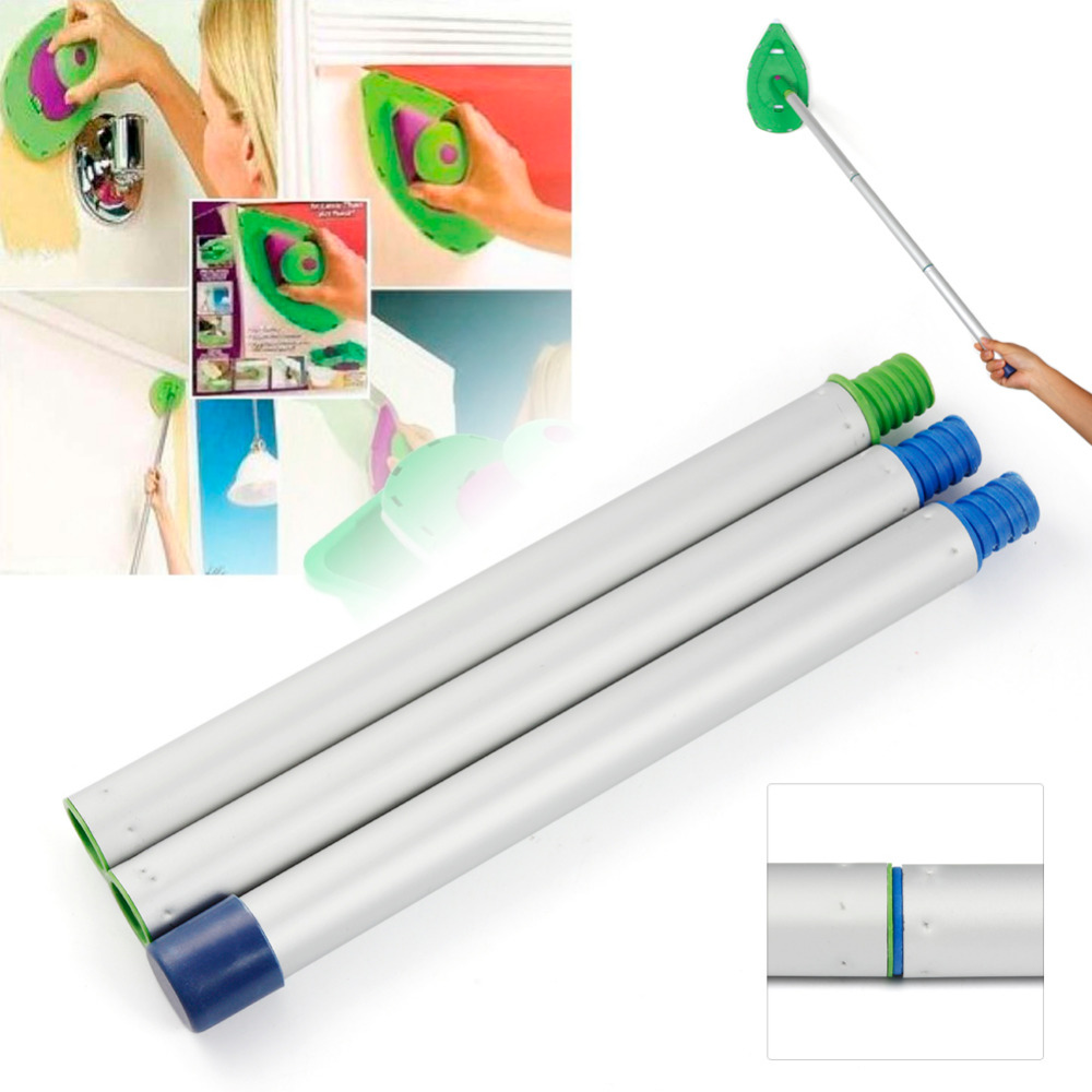 CYCLE ZONE 3pcslot Paint Sticks For Decorative Paint Roller and Tray Set Paint Pad Pro Painting Brush Point