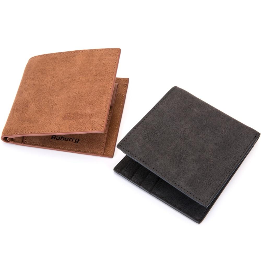 bedf97858 ManBang estilo clásico Cartera de cuero genuino de los hombres carteras  corto hombre monedero tarjeta titular