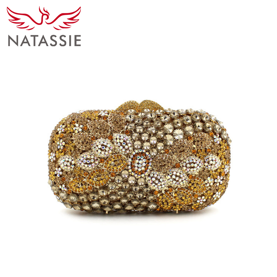 ФОТО NATASSIE Fashion Women Wedding Bags Laday Party Diamonds Evening Bag High Quality Crystal Purses
