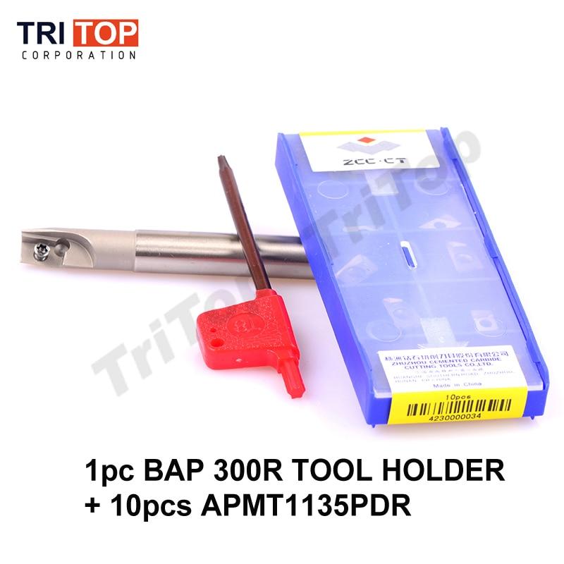 BAP JAP 300R įrankių laikiklis su 10 vnt. APMT1135PDR Frezavimo įrankio laikiklio paviršiaus freza frezavimo staklėms įterpti APMT1135