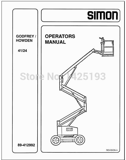 Simon ForkLift Workshop Manual and Parts Manuals