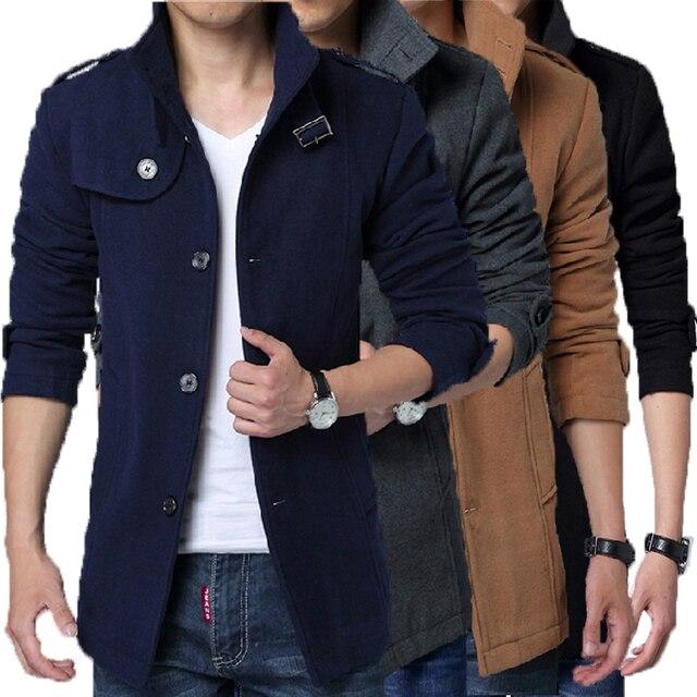 Plus size M-XXL 4 colors 2016 Spring and Autumn men's casual men's windbreaker jacket coat Korean Slim
