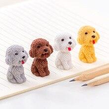 Kawaii Cute dog Cartoon Eraser Pencil Rubber Novelty For Kids School Supplies Student Office Stationery