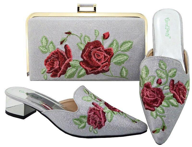 أسود حذاء النيجيري حزب حقيبة مجموعات للمرأة الإيطالية الأحذية و حقيبة مجموعة مزينة السيدات كعب حذاء ميد MM6003-في أحذية نسائية من أحذية على  مجموعة 1