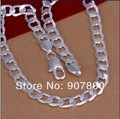 N005 factory price! High quality silver plated chain necklace 10MMX20inches Fashion Men's Jewelry DHL Free Shipping 100pcs/lot
