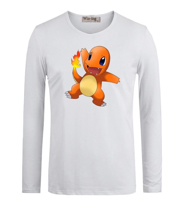 Summer Fashion Cotton T Shirts Cute Pokemon Charmander