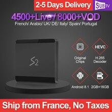 Leadcool S2 Iptv France 2GB 16GB RK3229 Tv Box Android 8.1 1 Year SUBTV Subscription UK Arabic Spain Canada Netherlands