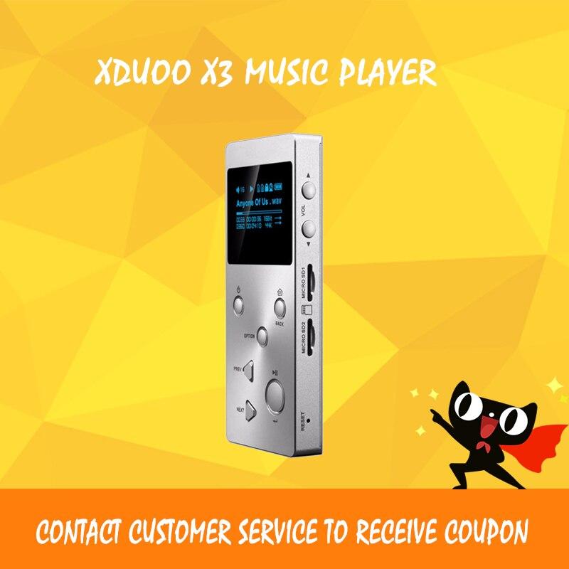 ASD XDUOO X3 Professional Lossless Hifi Audio MP3 Music Player HD OLED Screen Support APE/FLAC/ALAC//WMA/OGG xduoo x2 metal hifi for mp3 player mp4 professional lossless audio player 0 96 oled screen support 32gb tf mp3 wma ape flac wav