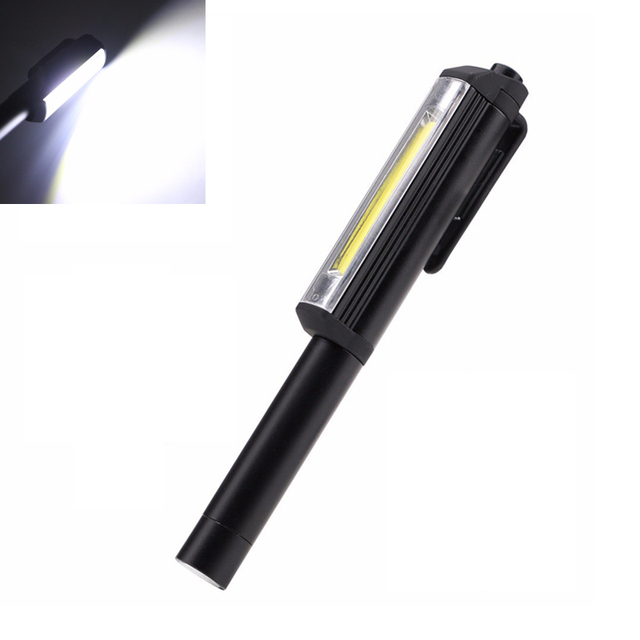 Mini Penna di Lavoro Luce Pannocchia Ha Condotto La Luce di Controllo Multi Funzione Tenuto In Mano Torcia Elettrica Esterna Della Lampada Della Torcia