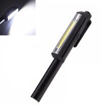 Mini długopis działa światła Cob Led kontroli światła wielofunkcyjny ręczny latarka na zewnątrz latarka lampa