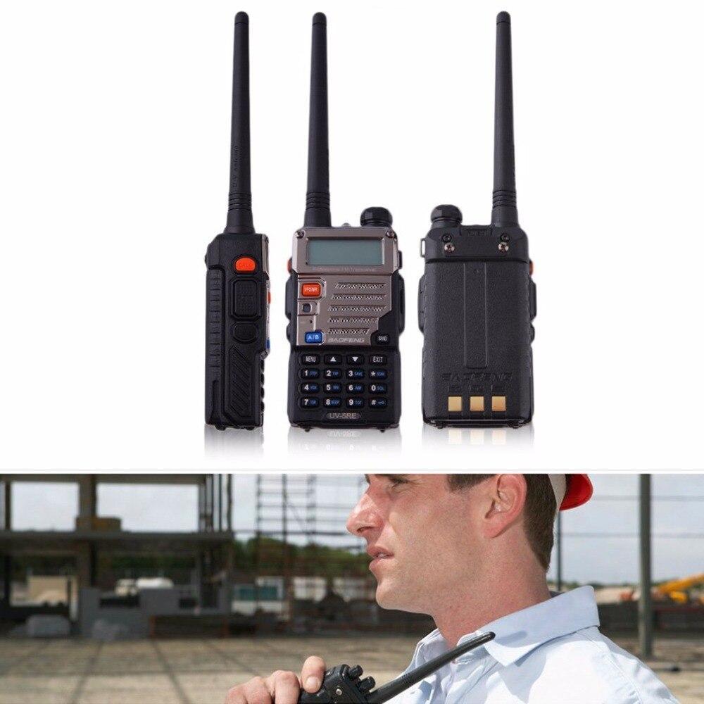 Baofeng BF-UV-5RE écran LCD talkie-walkie économiseur de batterie 5 W 128CH FM VOX DTMF Radio bidirectionnelle adaptateur US prise EU avec antenne - 2