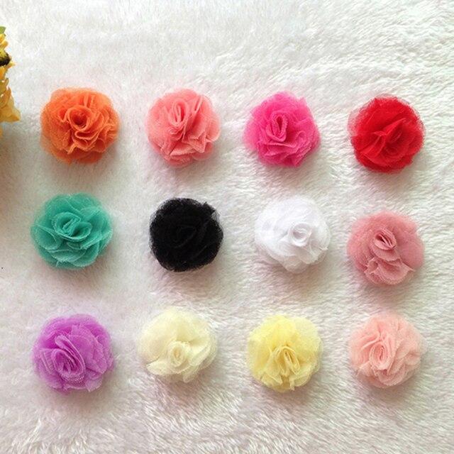 30 Teilelos 12 Farben Künstliche Tüll Mesh Blumen Für Kinder
