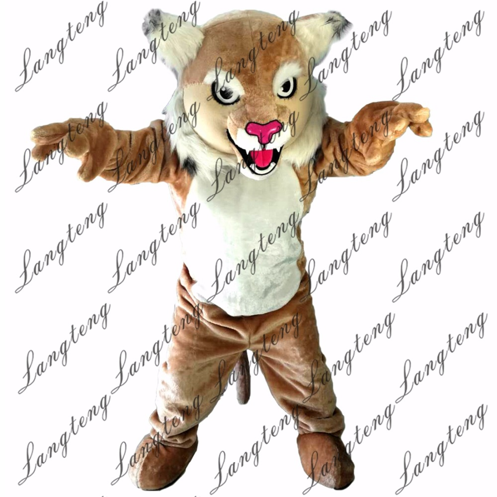 2018 New Hot Sale Tiger Cat Mascot Costume Adult Size Halloween Outfit Fancy Dress Suit Free Shipping