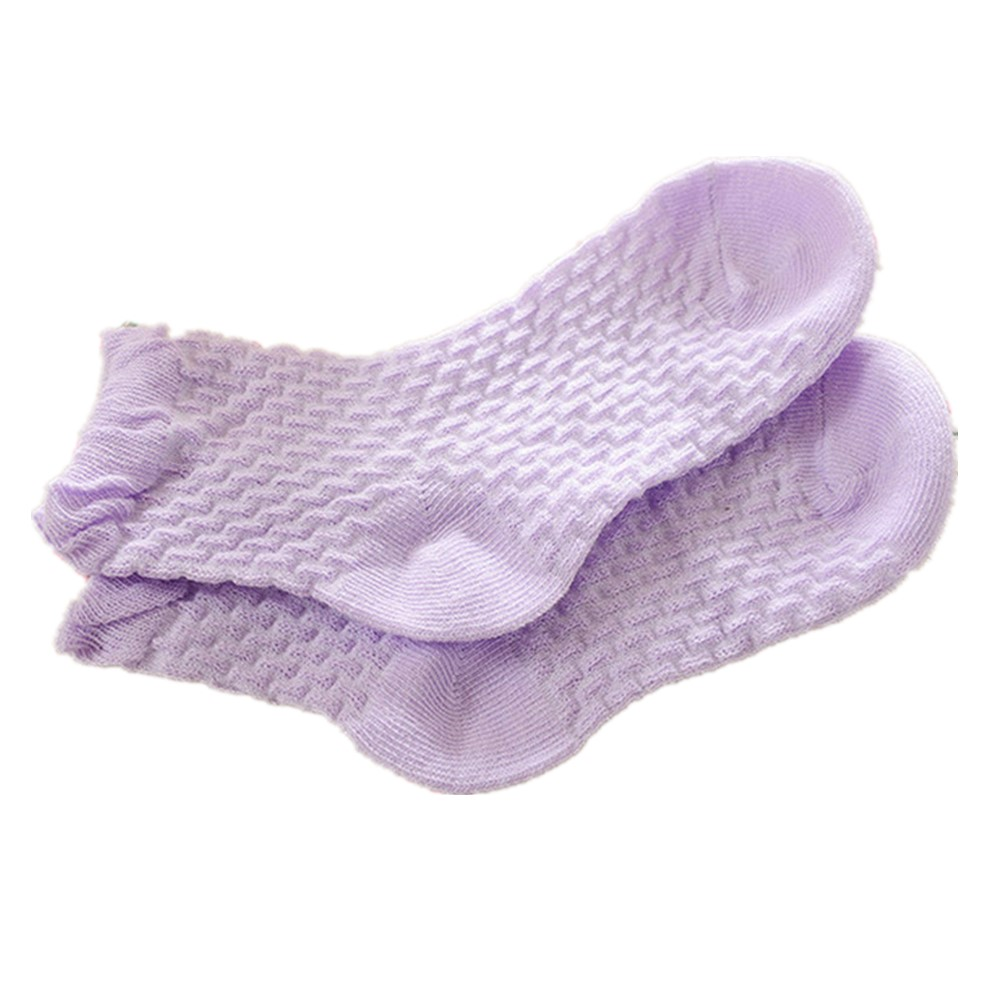 0-12 Years Children Socks 5 Pairs Breathable Baby Girls Hobby Sox Kids Anklets Boys Hose Pure Solid Socks For Girls Pure Solid 2