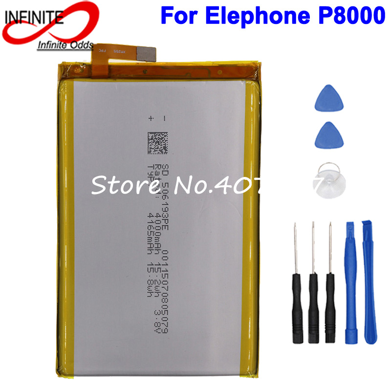 For Elephone P8000 Battery 4165mAh High Quality Batterie Bateria Accumulator AKKU+Tools